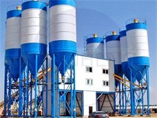 Teams Inspect and Maintain of HZS Series Concrete Batching Plant
