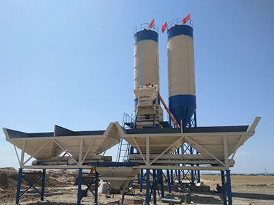 HZS75 Skip Hopper Concrete Batching Plant to Persian Wana