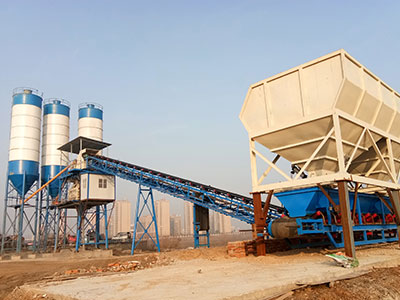 HZS90 Belt Conveyor Concrete Batching Plant to Iraq
