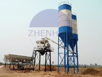 Skip Hopper HZS75 75cbm per Hour Concrete Mixing Plant with JS1500 Concrete Mixer Concrete Batching Plant
