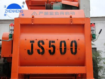Spot Js500 Twin-shaft Concrete Mixer Special Equipment For Mixing Plant