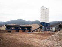 500Ton Stabilized Soil Mixing Station on Site